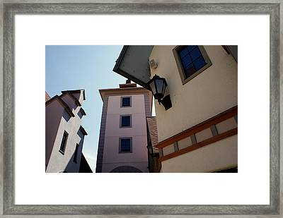 Frankenmuth Village Michigan Framed Print by Lois Lepisto