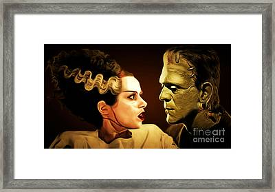 Frankenstein And The Bride I Have Love In Me The Likes Of Which You Can Scarcely Imagine 20170407 Framed Print by Wingsdomain Art and Photography