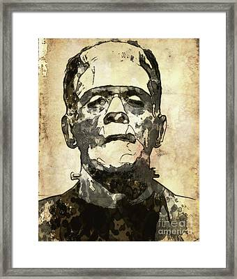Frankenstein Framed Print by Mary Bassett