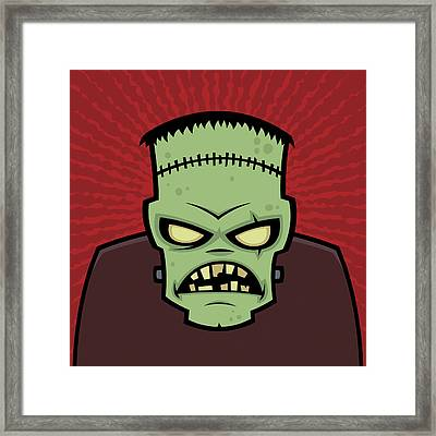 Frankenstein Monster Framed Print