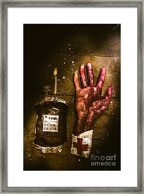 Frankenstein Transplant Experiment Framed Print by Jorgo Photography - Wall Art Gallery