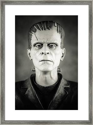 Frankenstein's Monster - Boris Karloff II Framed Print by Marco Oliveira