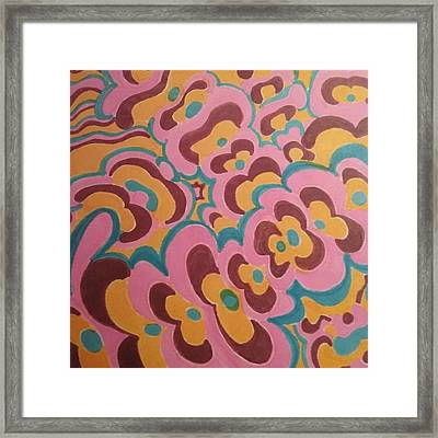 Frankesque Framed Print by Modern Metro Patterns and Textiles