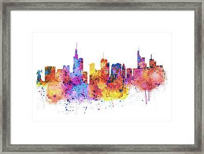 Frankfurt Skyline Framed Print