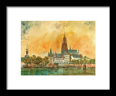 Frankfurt Framed Prints