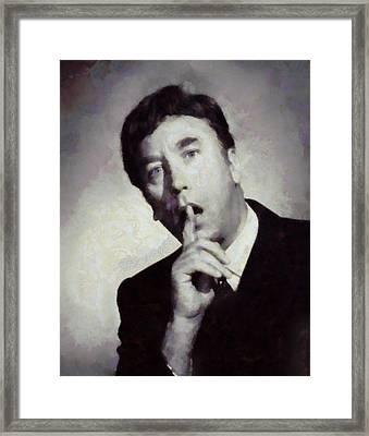 Frankie Howerd, Carry On Actor Framed Print by Sarah Kirk