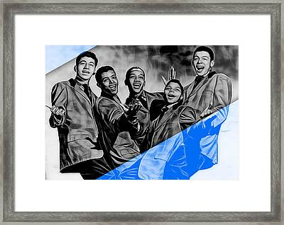 Frankie Lymon And The Teenagers Framed Print by Marvin Blaine