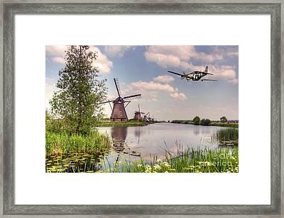 Frankie Over The Mills Framed Print by J Biggadike