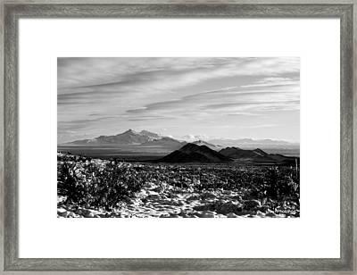 Franklin Mountains Framed Print by Adam Jones