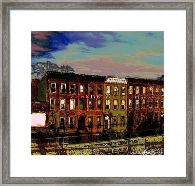 Framed Print featuring the photograph Franklin Ave. Bk by Iowan Stone-Flowers