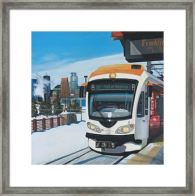 Franklin Avenue Station Framed Print by Jude Labuszewski