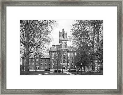 Franklin College Old Main Framed Print by University Icons