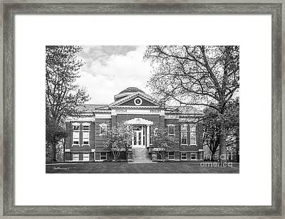 Franklin College Shirk Hall Framed Print