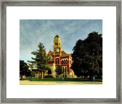 Franklin County Courthouse - Hampton Iowa Framed Print