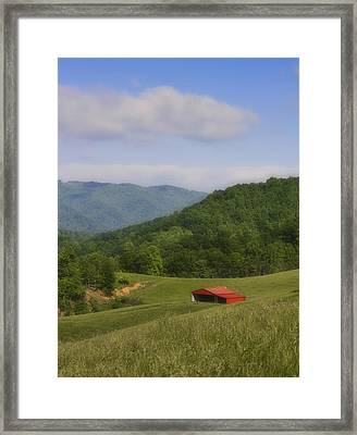 Franklin County Virginia Red Barn Framed Print