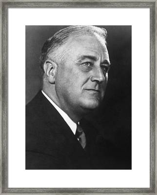 Franklin D. Roosevelt 1882-1945, U.s Framed Print