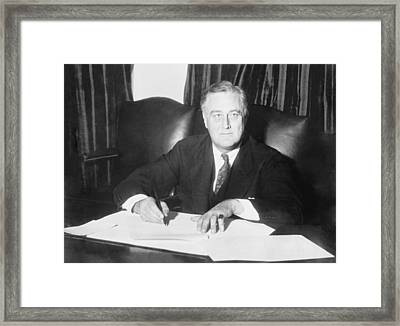 Franklin D. Roosevelt Ended Prohibition Framed Print by Everett