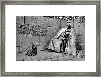 Franklin Delano Roosevelt Sculpture  Framed Print