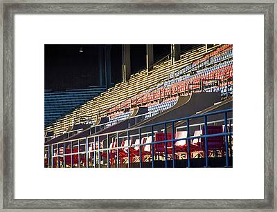 Franklin Field - Empty Stands Framed Print by Bill Cannon