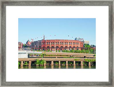 Franklin Field From South Street Framed Print by Bill Cannon