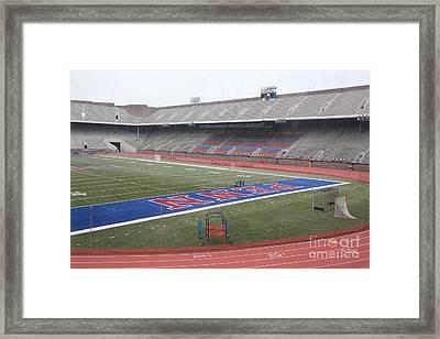 Franklin Field Phil  Framed Print by Chuck Kuhn