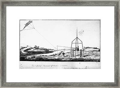 Franklin: Kite, 1788 Framed Print by Granger