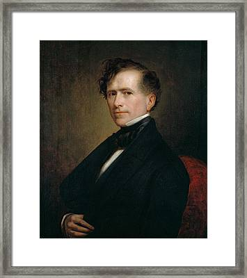 Franklin Pierce Framed Print by George Peter Alexander Healy