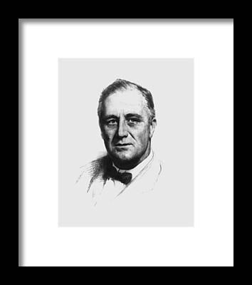 Franklin Roosevelt Framed Prints