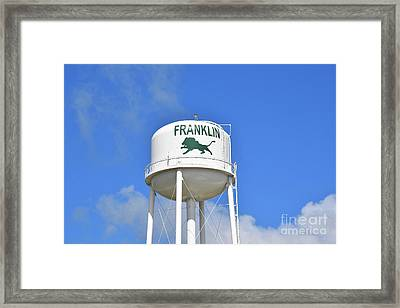 Franklin Texas Water Tower Framed Print by Ray Shrewsberry