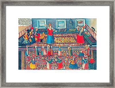 Franz Hermann Turkish Harem Framed Print by Munir Alawi