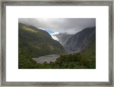 Framed Print featuring the photograph Franz Josef Glacier  by Cheryl Strahl