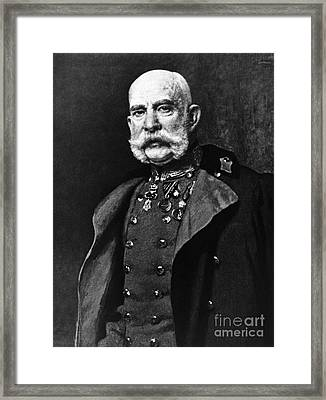 Franz Joseph I, Emperor Of Austria Framed Print by Omikron