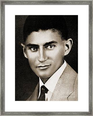 Franz Kafka Framed Print by Czech School