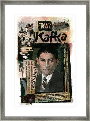 Framed Print featuring the painting Franz Kafka by John Dyess