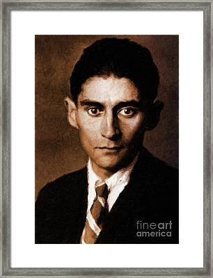Franz Kafka, Literary Legend By Mary Bassett Framed Print by Mary Bassett