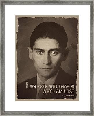 Franz Kafka Quote Framed Print