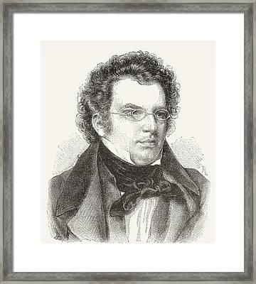 Franz Peter Schubert, 1797 Framed Print by Vintage Design Pics
