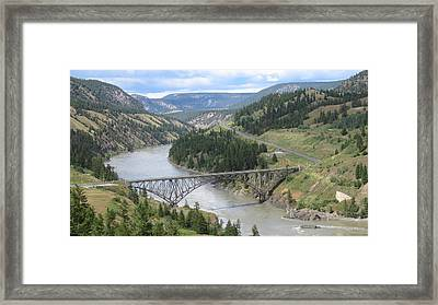 Fraser River Bridge Near Williams Lake Framed Print