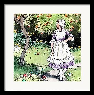 Fruit Tree Drawings Framed Prints