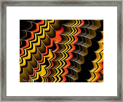 Frax Patterns Framed Print