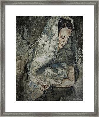 Frayed Framed Print by Leslie Rhoades