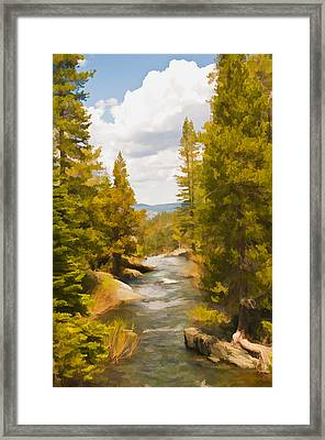 Frazier Creek Framed Print