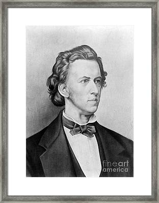 Fr�d�ric Chopin, Polish Composer Framed Print by Science Source