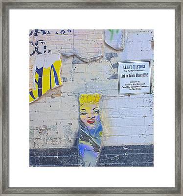 Freak Alley Boise Framed Print