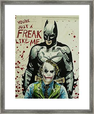 Freak Like Me Framed Print