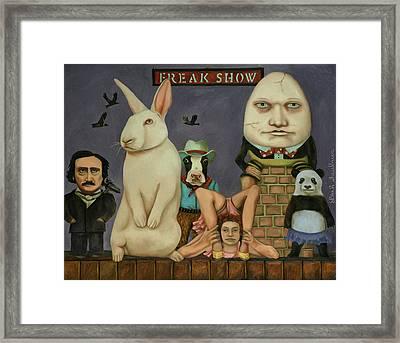 Freak Show Framed Print by Leah Saulnier The Painting Maniac