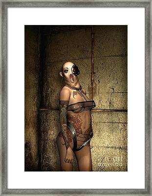 Freaks - The Second Girl In The Basment Framed Print by Luca Oleastri