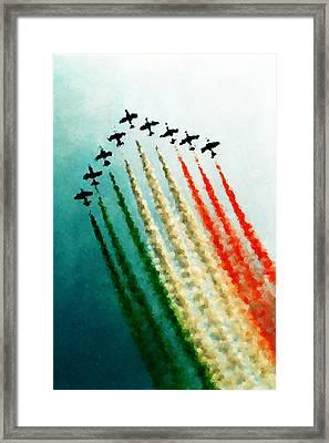 Frecce Tricolori Framed Print