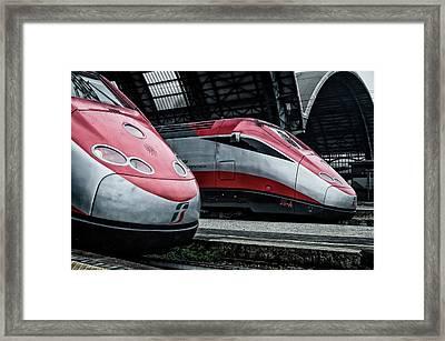 Freccia Rossa Trains. Framed Print by Pablo Lopez