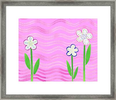 Freckled Flowers In The Garden Framed Print by Irina Sztukowski